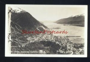 JUNEAU ALASKA GASTINEAU CHANNEL VINTAGE REAL PHOTO POSTCARD