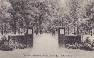 Ohio Oxford Memorial Enterance Miami University Albertype