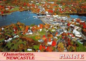 Maine Damariscotta Aerial View