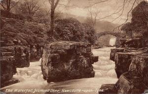 The Waterfall, Jesmond Dene, Newcastle-Upon-Tyne Bridge River Pont