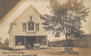 Brownfield ME F. R. Bradbury Store Red Men's Hall Railroad Sidding RPPC