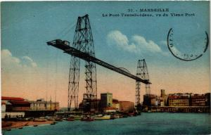 CPA MARSEILLE Le Pont Transbordeur vu du Vieux Port (445075)