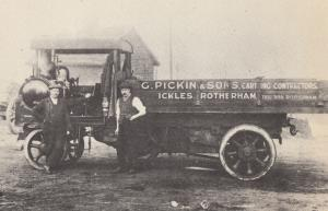 Sheffield Transport Rotherham Steam Carting Contractors Lorry Postcard