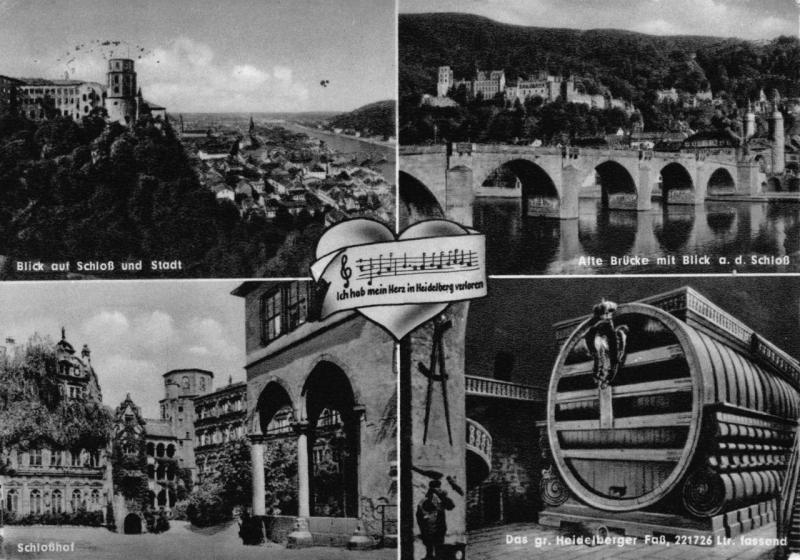 Postcard 1963 HEIDELBERG Germany Multiview