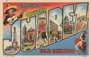 RP: Large Letter JUAREZ , Mexico , 1949