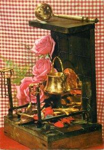 greetings flowers holiday arrangement decoration ornaments Postcard