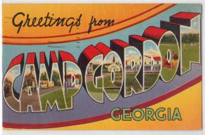 Large Letter, CAMP GORDON GA