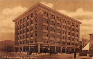 Boise Idaho~Idaho Building~Vintage Car~Ladies w Hats in Street~c1910 Sepia Pc