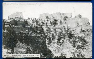 Castle Buttes near Harrison Nebraska ne old postcard postmarked 1912