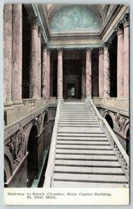 St Paul Minnesota~State Capitol~Stairway to Senate Chamber~Marble Pillars~c1910