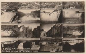RPPC Multiview - 16 Scenes at Twin Falls, Idaho