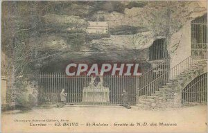 Old Postcard Brive Correze St Anthony Cave N D Mission