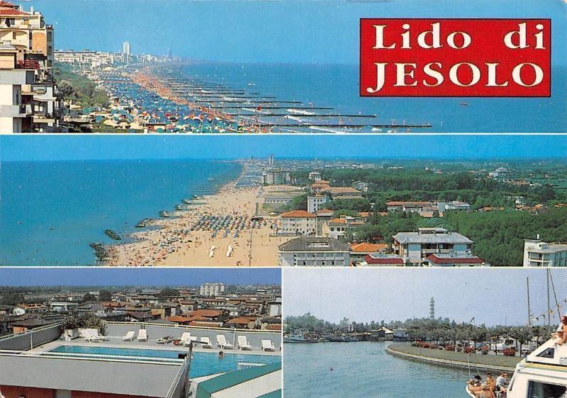 Italy Lido di Jesolo, Beach Plage Port Bateaux Harbour, Hotel Swimming Pool