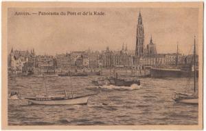 Anvers, Panorama du Port et de la Rade, early 1900s unused Postcard