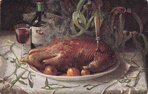 AS: TUCK #6659; Still Life, Roast Turkey, PU-1908