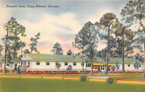 Military Post Card Hospital Area at Camp Stewart Savannah, Georgia, USA Unused