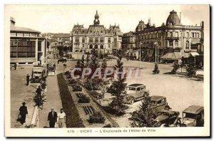 Old Postcard Vichy L & # 39esplanade of & # City 39hotel