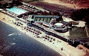 New York Rye Manursing Island Aerial View Of Westchester Country Club Beach
