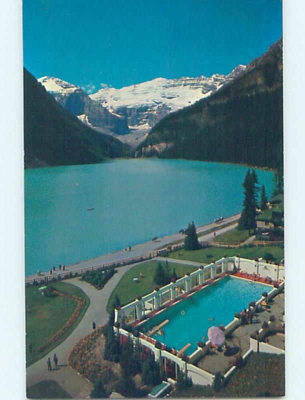 Unused Pre-1980 SWIMMING POOL AT HOTEL Lake Louise Alberta AB B1098
