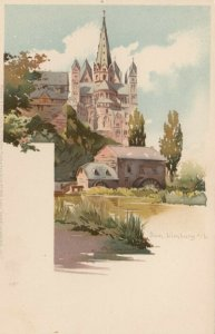 DOM, Limburg-Weilburg, Germany, 1900-10s; Castle and Water Wheels