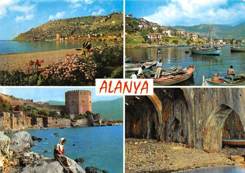 Turkey Alanya, General view Harbour Fishing Boats Bateaux Panorama