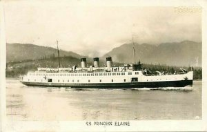 Steamship, S.S. Princess Elaine, Postmark 1946 RPPC