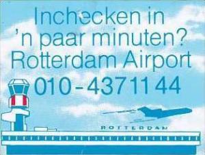 ROTTERDAM AIRPORT VINTAGE AVIATION LABEL