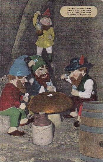 Gnome Poker Game Fairyland Caverns Rock City Gardens Lookout Mountain