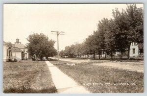 Hawkeye Iowa~East Main Street Homes~Water Tower Tank~Dirt Road~1913 RPPC