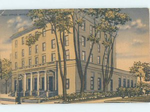Linen POST OFFICE SCENE Watertown New York NY AF0946