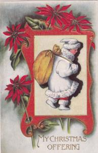 CHRISTMAS, 00-10s; Offering, Child carrying big bag, Poinsettias