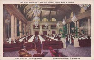 The Palace Palm Court The Most Beautiful Dining Room In America Palace Hotel ...