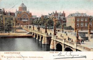 Netherlands, Amsterdam, Hooge Sluis, animated birdge, auto cars 1905