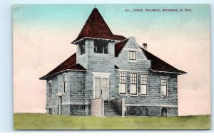 *1st First Congregational Church Bowman North Dakota ND Vintage Postcard B97