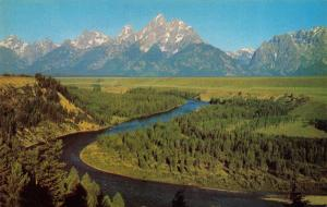 Vintage Postcard Snake River, Grand Teton National Park, Wyoming, USA #474