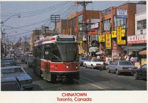 Rush Hour in Chinatown Toronto Canadian Postcard