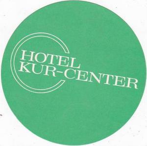 GERMANY BAD KISSINGEN HOTEL KUR-CENTER VINTAGE LUGGAGE LABEL