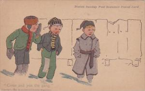 Come and Join The Gang Boston Sunday Post Souvenir Postal Card Series
