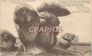 Postcard Old Tregastel Rock said the Camel