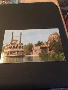Vtg Postcard: Disneyland MarkTwain Steamboat, Frontierland
