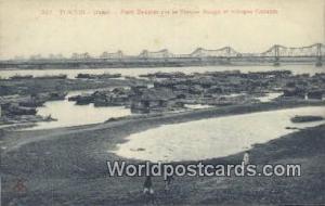 Vietnam, Viet Nam,  Nhân Vật Tonkin Hanoi, Pont Doumer aur le Fleuve Rouge