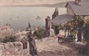 Sailboats, View Across The Bay, Clovelly, Devon, England, UK, 1900-1910s