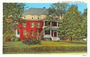 HAMPTON  VA~DIXIE HOSPITAL FOUNDED IN 1892~NOW HAMPTON GENERAL~1920s POSTCARD