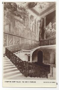 UK London Hampton Court Palace Kings Staircase Postcard