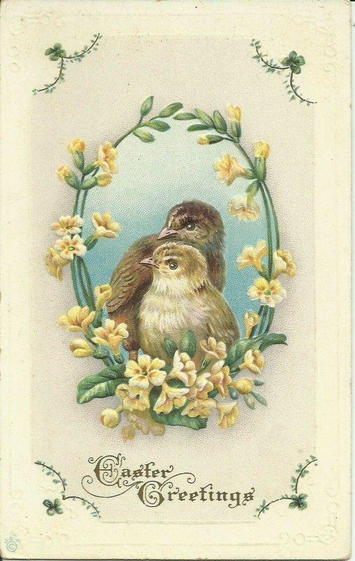 Easter Greetings     6 f   EMBOSSED