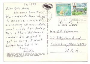 Negril Beach Jamaica 1978 4X6 Postcard