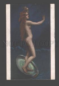 097339 Belle MERMAID on Shell by HOEBLIN old ART NOUVEAU