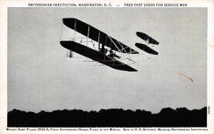 Wright Brothers Plane Government Owned 1940s postcard