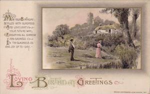 Embossed Birthday Landscape Scene Winsch
