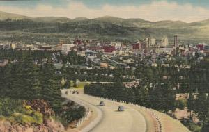 SPOKANE, Washington,  30-40s ; Sunset Highway Entering City from the West